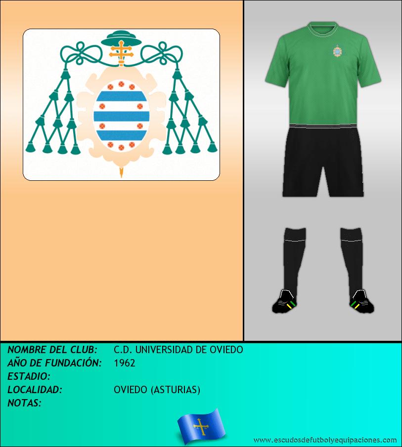 Escudo de C.D. UNIVERSIDAD DE OVIEDO