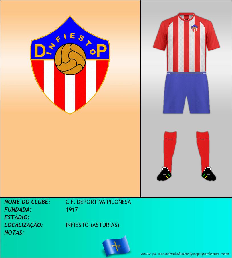 Escudo de C.F. DEPORTIVA PILOÑESA