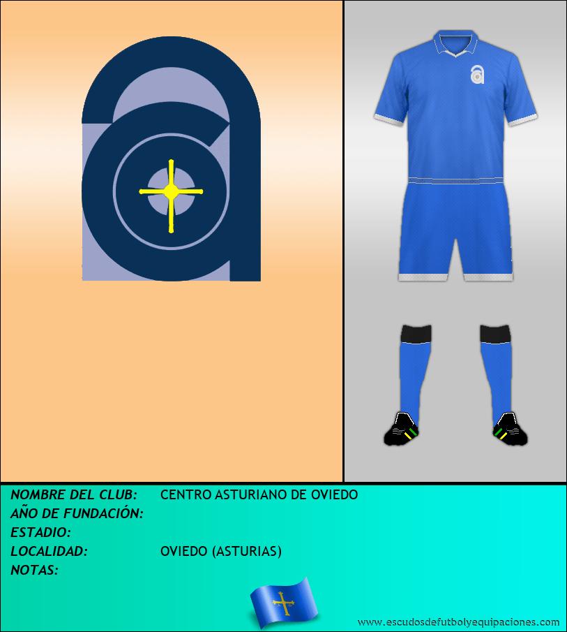 Escudo de CENTRO ASTURIANO DE OVIEDO