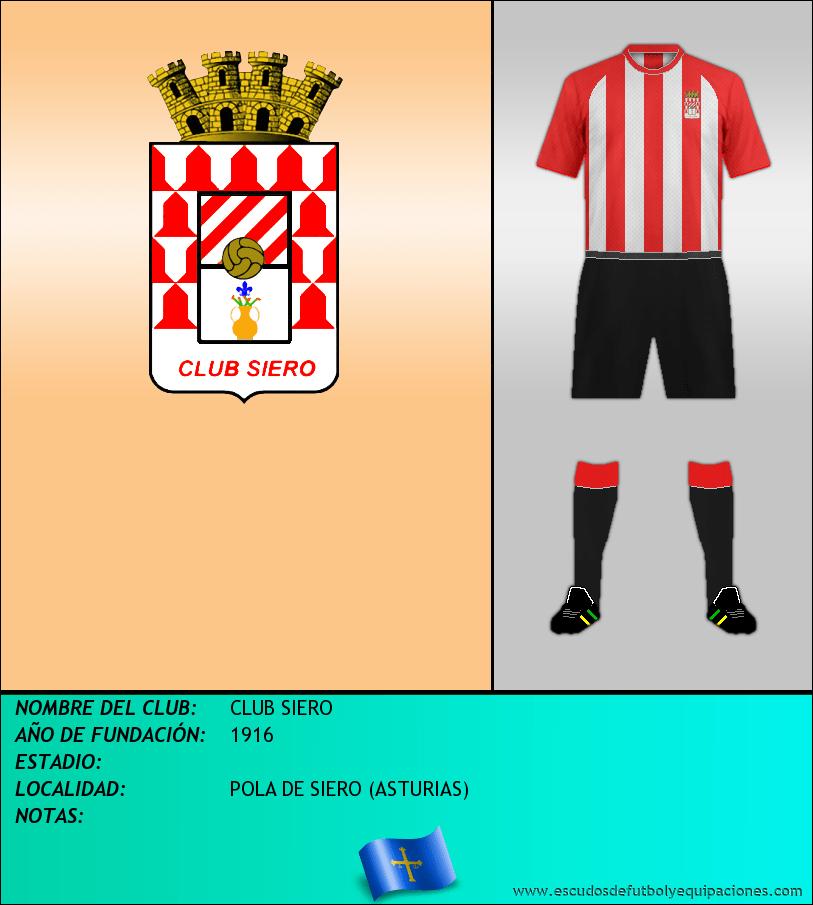 Escudo de CLUB SIERO