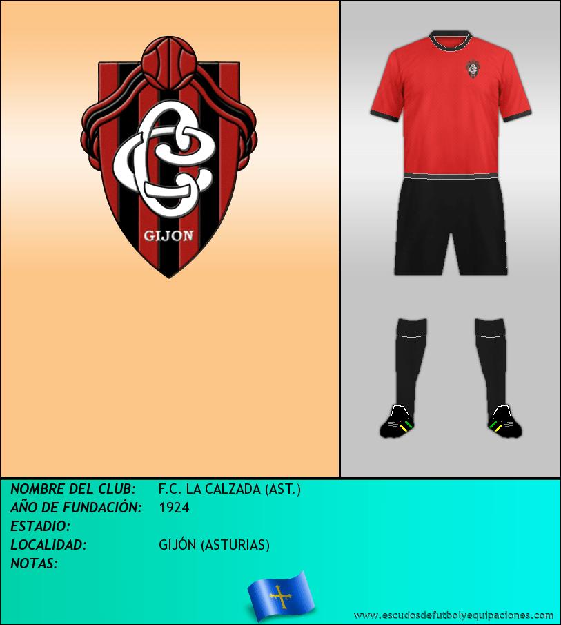 Escudo de F.C. LA CALZADA (AST.)