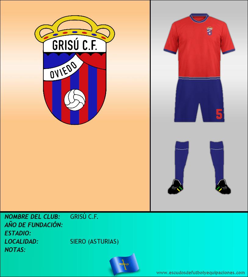 Escudo de GRISÚ C.F.