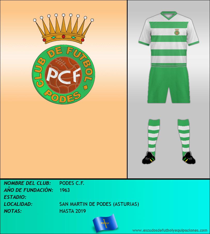 Escudo de PODES C.F.