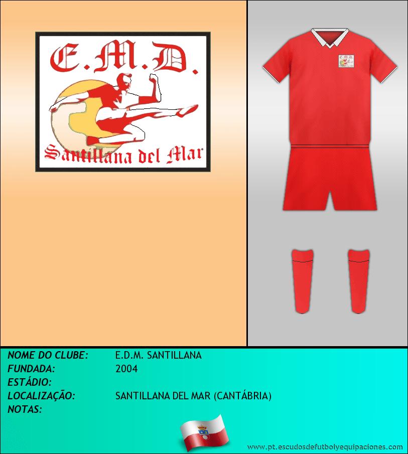 Escudo de E.D.M. SANTILLANA