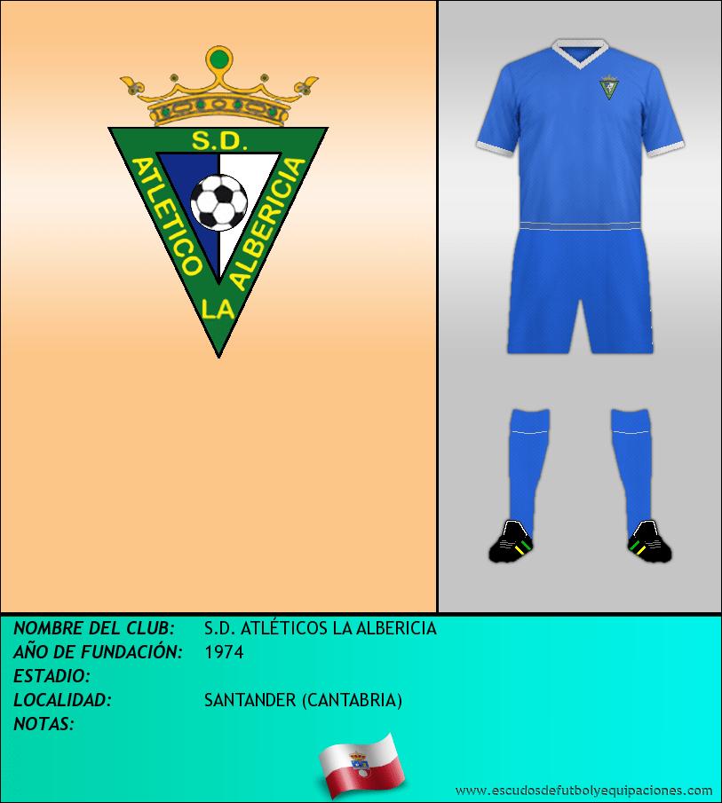 Escudo de S.D. ATLÉTICOS LA ALBERICIA