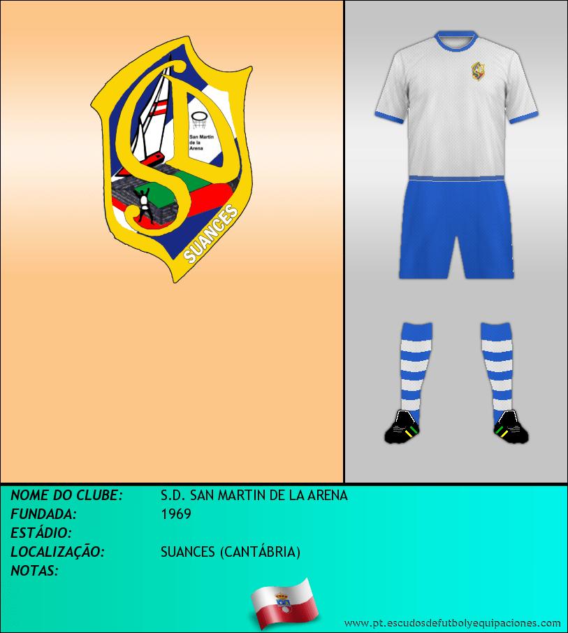 Escudo de S.D. SAN MARTIN DE LA ARENA
