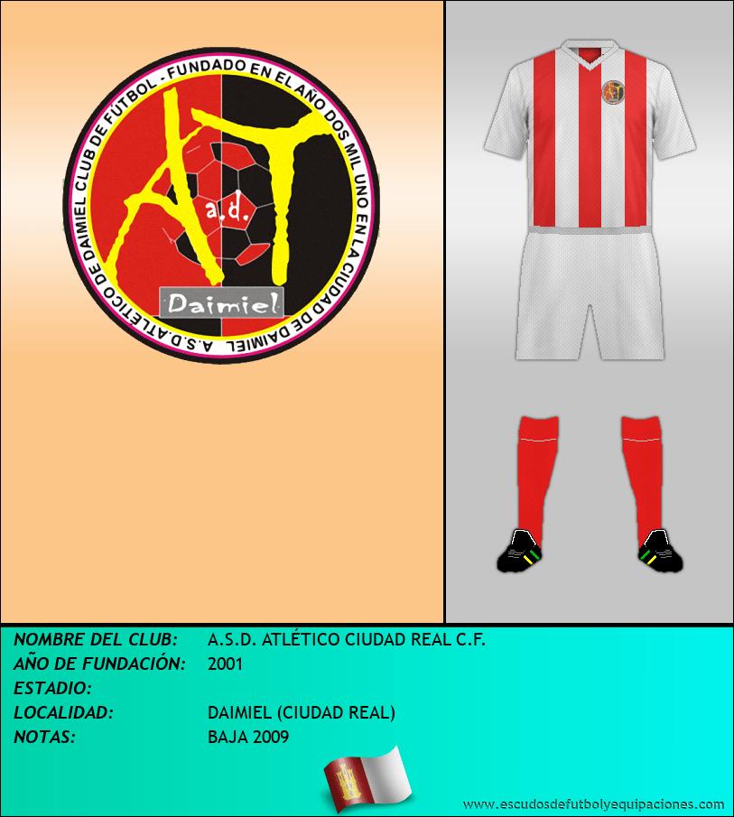 Escudo de A.S.D. ATLÉTICO CIUDAD REAL C.F.