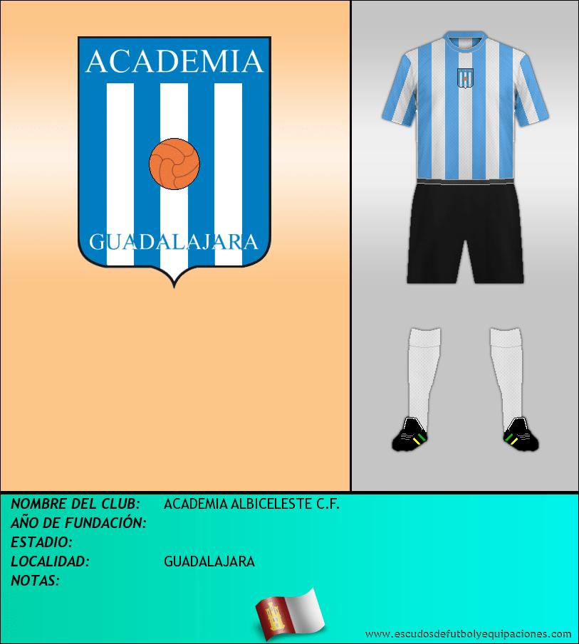 Escudo de ACADEMIA ALBICELESTE C.F.