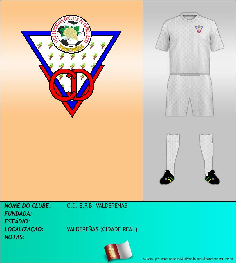 Escudo de C.D. E.F.B. VALDEPEÑAS