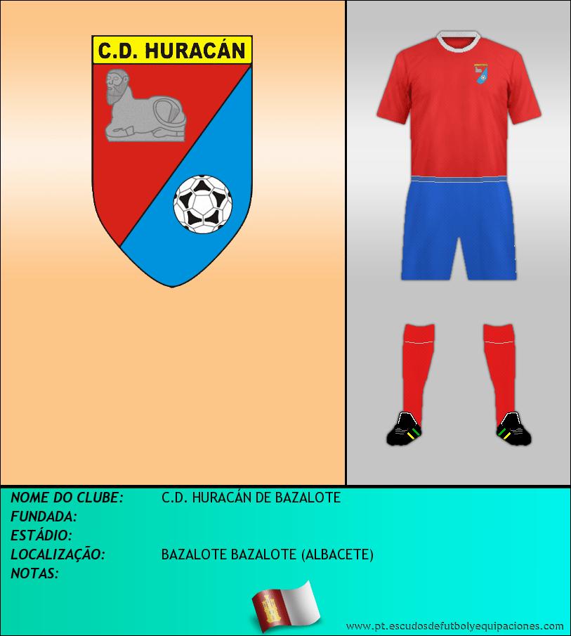 Escudo de C.D. HURACÁN DE BAZALOTE