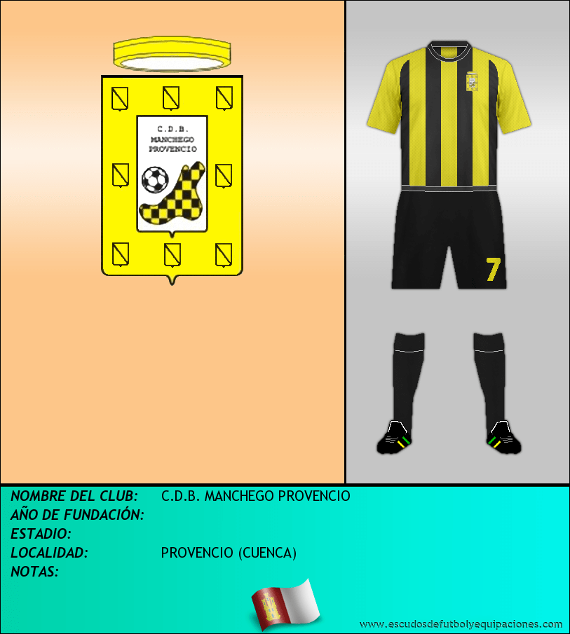 Escudo de C.D.B. MANCHEGO PROVENCIO