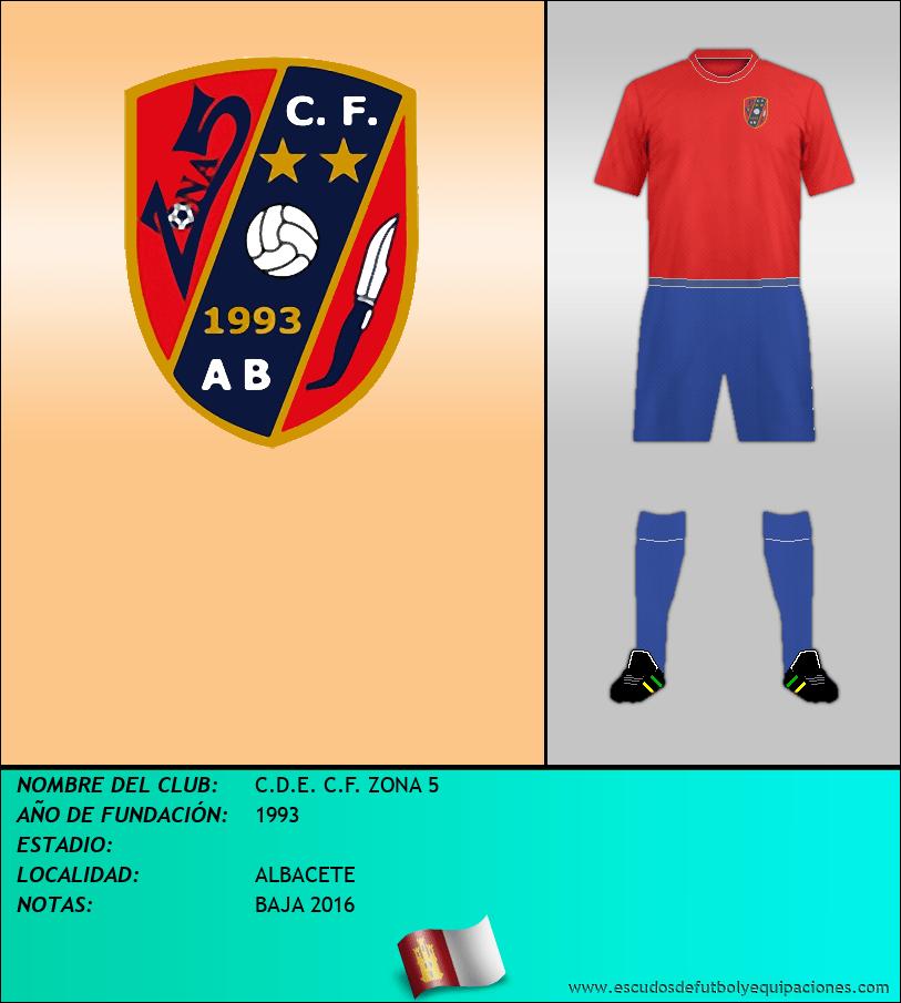 Escudo de C.D.E. C.F. ZONA 5