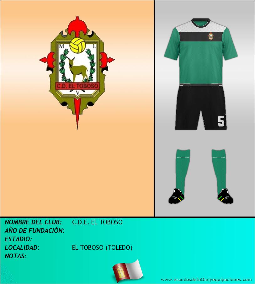 Escudo de C.D.E. EL TOBOSO