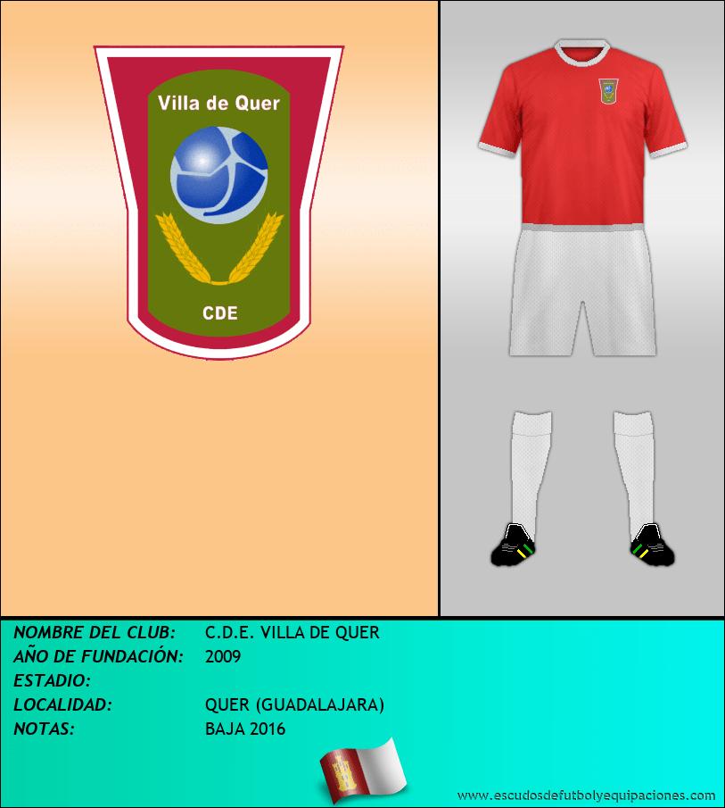 Escudo de C.D.E. VILLA DE QUER