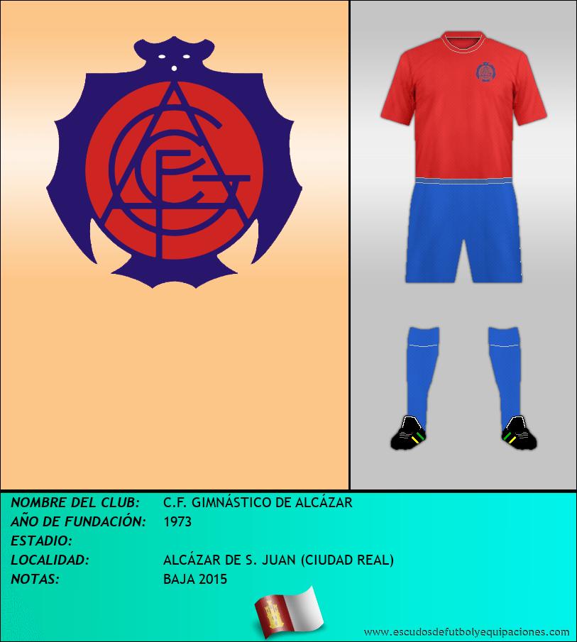 Escudo de C.F. GIMNÁSTICO DE ALCÁZAR