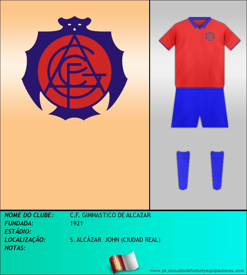 Escudo de C.F. GIMNASTICO DE ALCAZAR