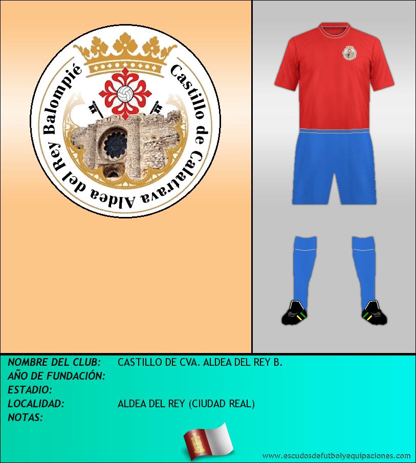 Escudo de CASTILLO DE CVA. ALDEA DEL REY B.