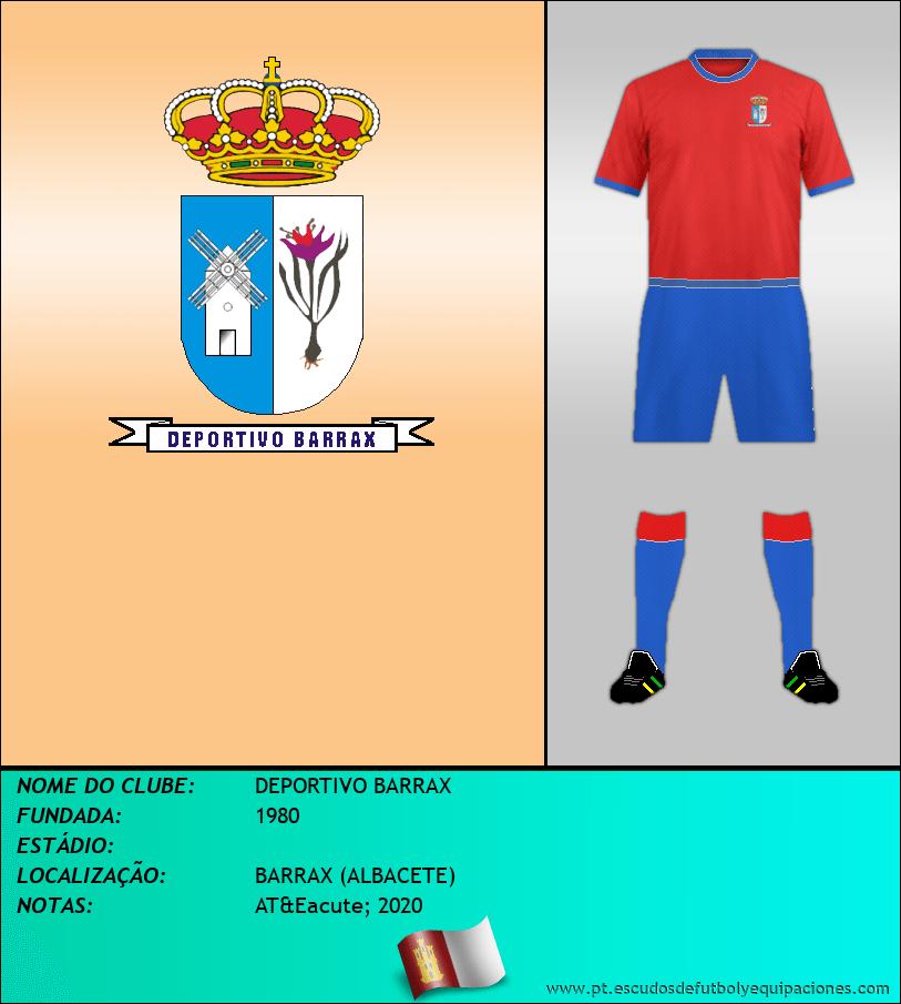 Escudo de DEPORTIVO BARRAX