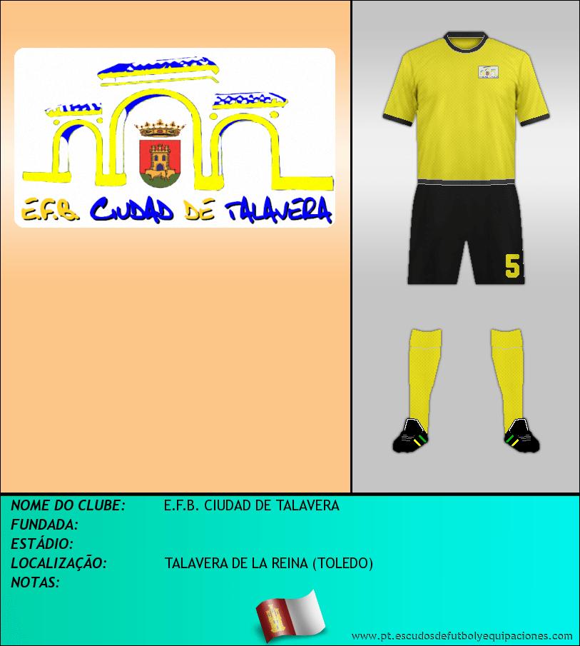 Escudo de E.F.B. CIUDAD DE TALAVERA