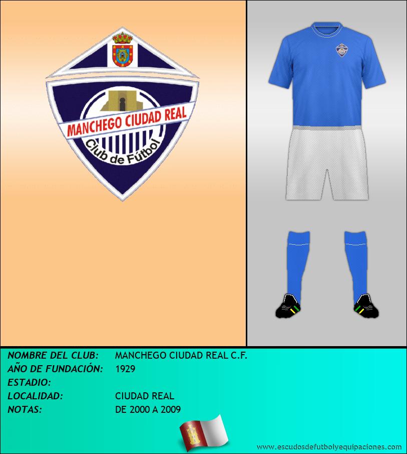 Escudo de MANCHEGO CIUDAD REAL C.F.