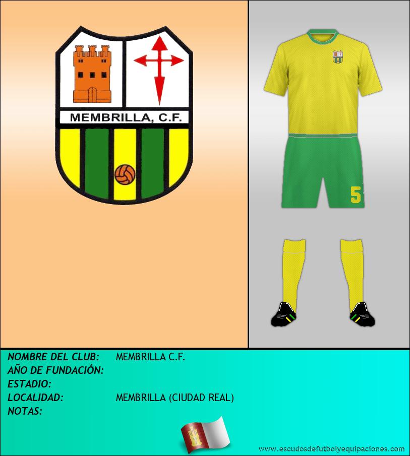 Escudo de MEMBRILLA C.F.