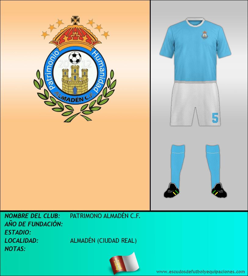 Escudo de PATRIMONO ALMADÉN C.F.