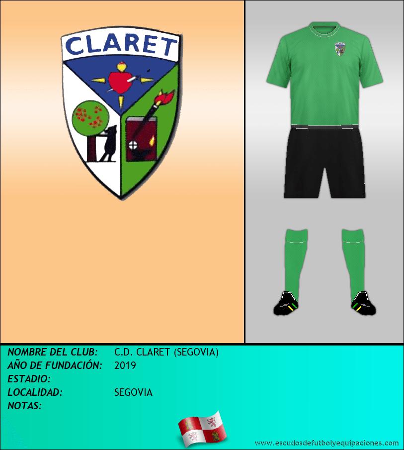 Escudo de C.D. CLARET (SEGOVIA)