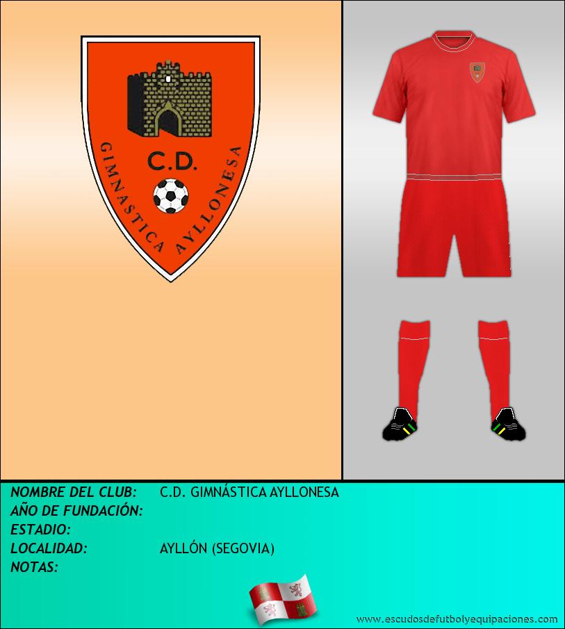 Escudo de C.D. GIMNÁSTICA AYLLONESA