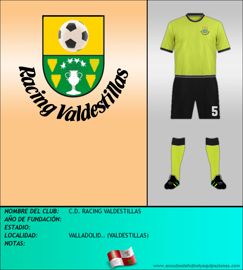 Escudo de C.D. RACING VALDESTILLAS