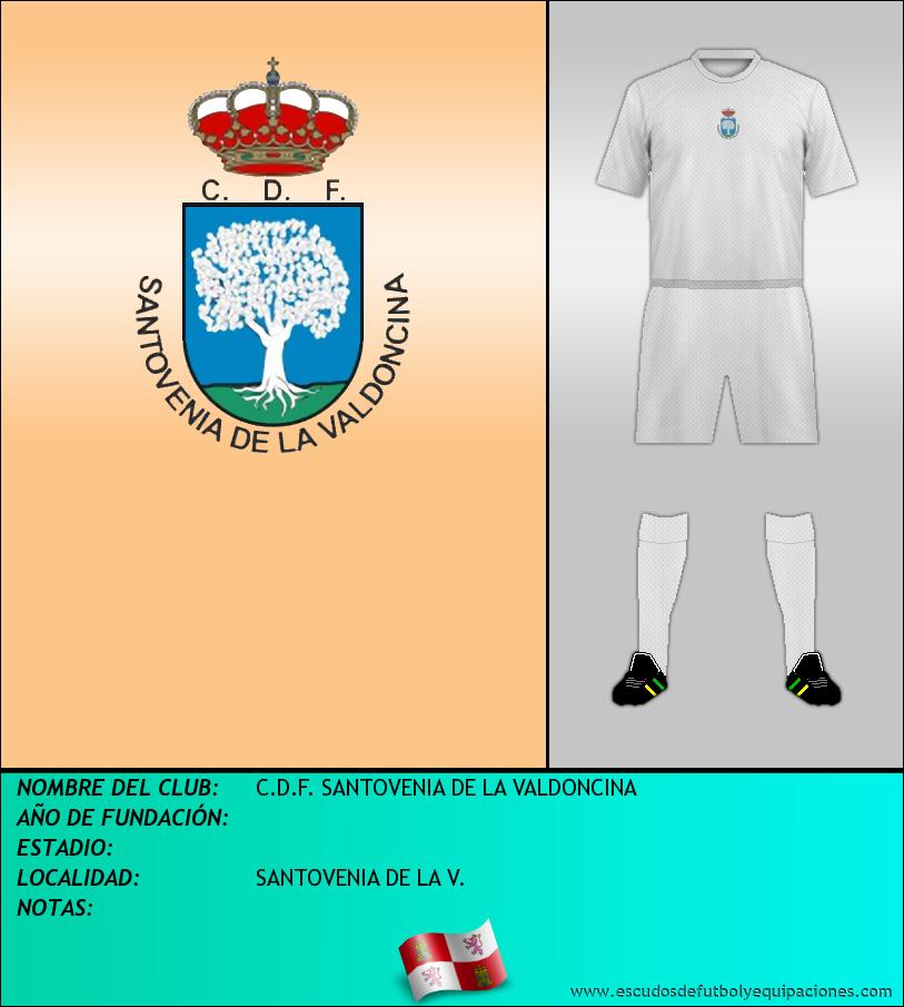 Escudo de C.D.F. SANTOVENIA DE LA VALDONCINA