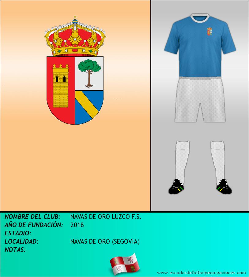 Escudo de NAVAS DE ORO LUZCO F.S.
