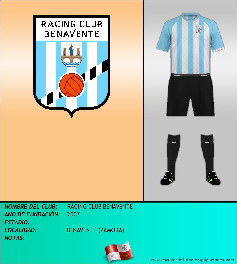 Escudo de RACING CLUB BENAVENTE