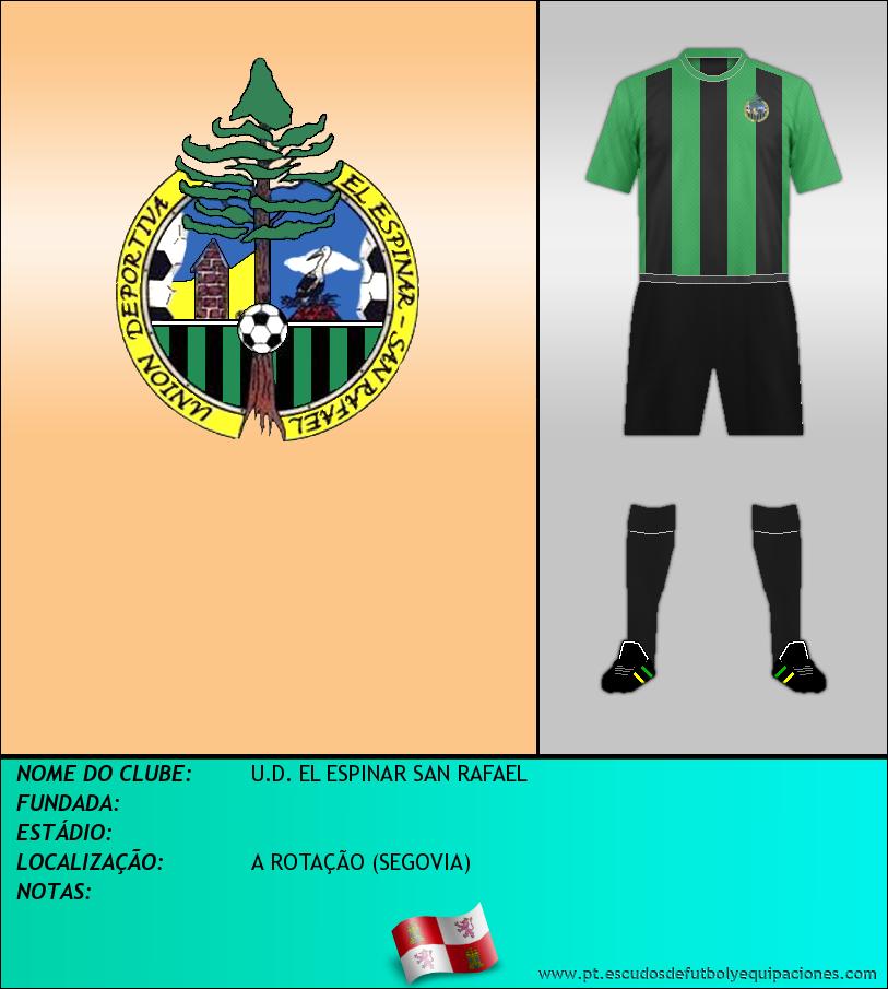 Escudo de U.D. EL ESPINAR SAN RAFAEL