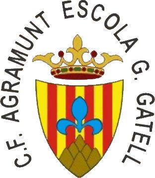 Escudo de C.F. AGRAMUNT ESCOLA G. GATELL (CATALUÑA)