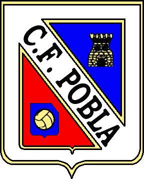 Escudo de C.F. LA POBLA (CATALUÑA)