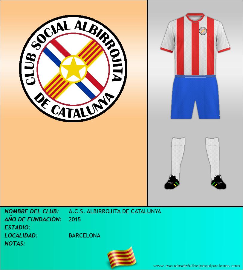 Escudo de A.C.S. ALBIRROJITA DE CATALUNYA