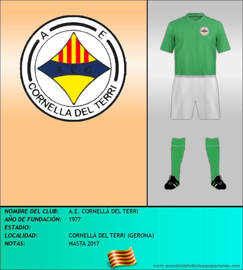 Escudo de A.E. CORNELLÁ DEL TERRI