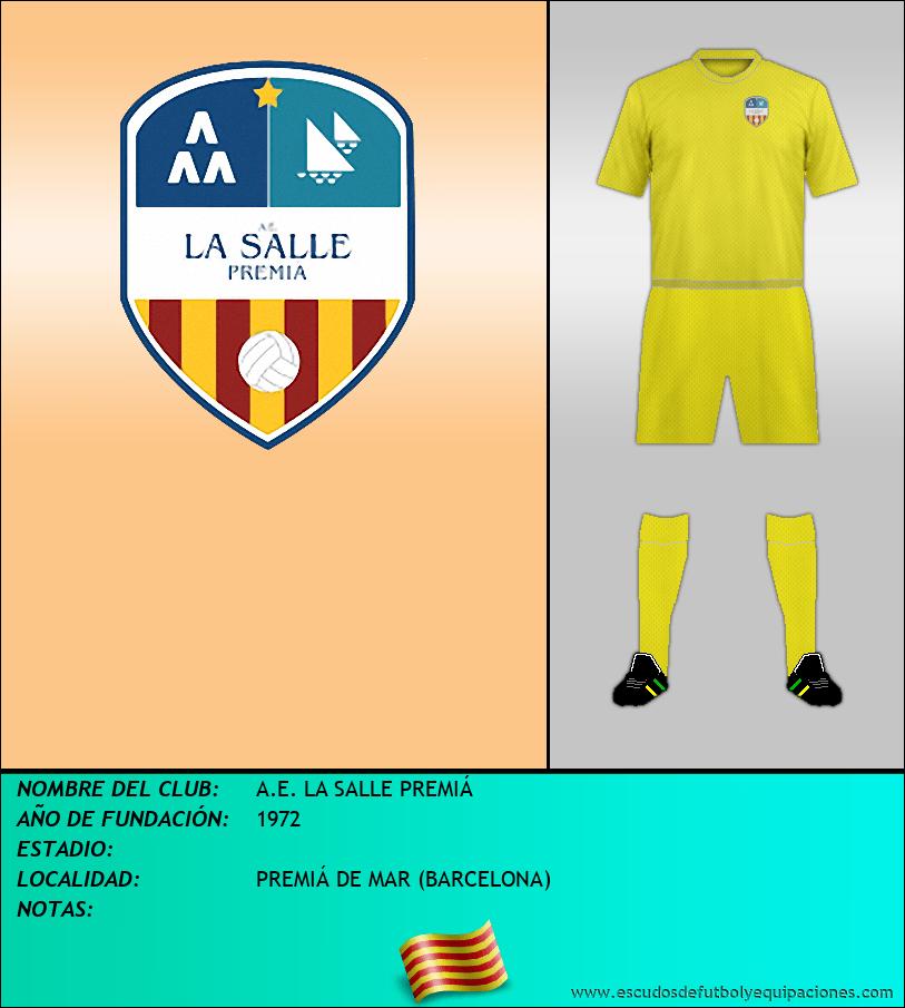 Escudo de A.E. LA SALLE PREMIÁ