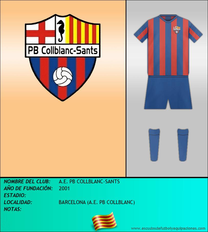 Escudo de A.E. PB COLLBLANC-SANTS