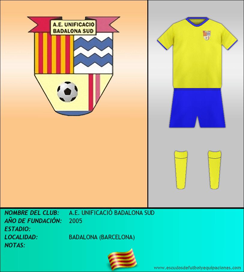 Escudo de A.E. UNIFICACIÓ BADALONA SUD