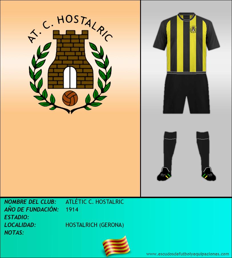 Escudo de ATLÉTIC C. HOSTALRIC