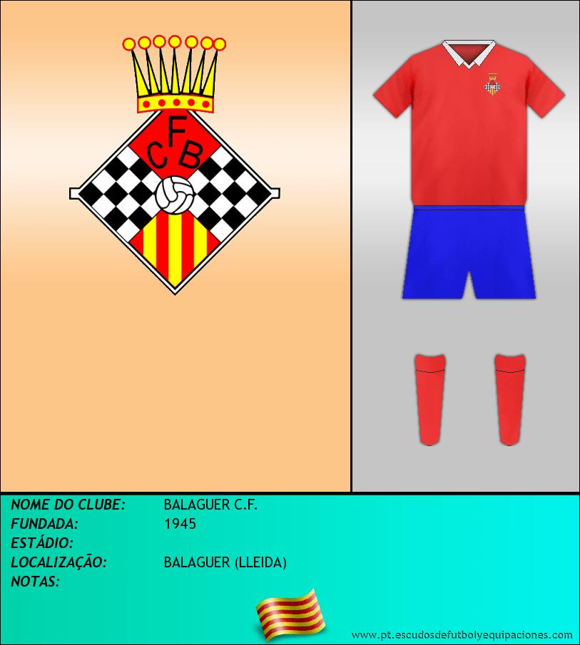 Escudo de BALAGUER C.F.