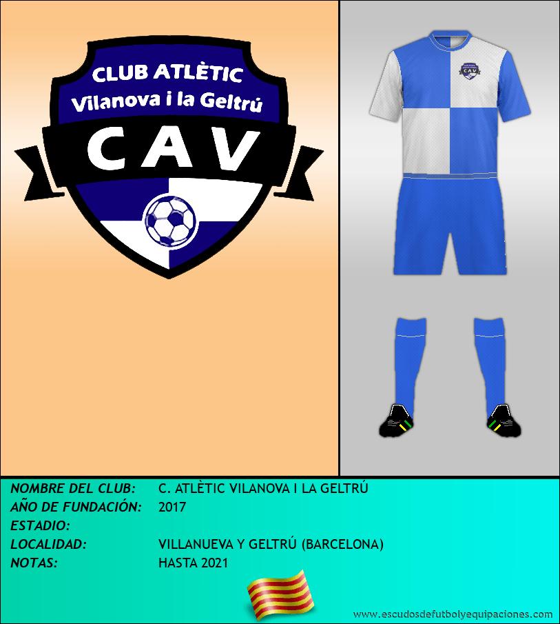 Escudo de C. ATLÈTIC VILANOVA I LA GELTRÚ