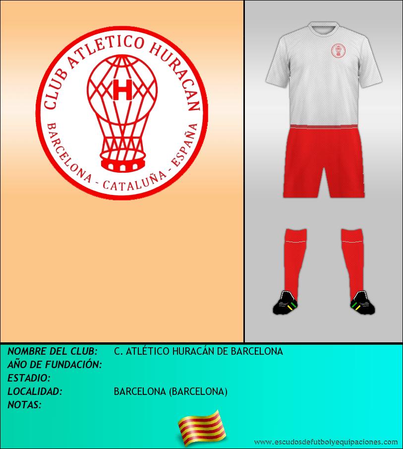 Escudo de C. ATLÉTICO HURACÁN DE BARCELONA