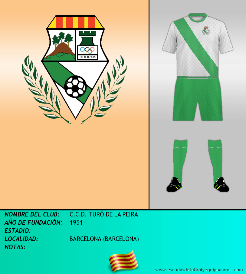 Escudo de C.C.D. TURÓ DE LA PEIRA