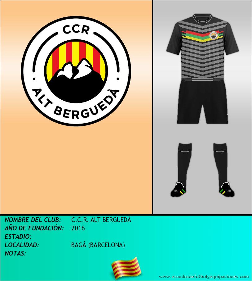 Escudo de C.C.R. ALT BERGUEDÀ