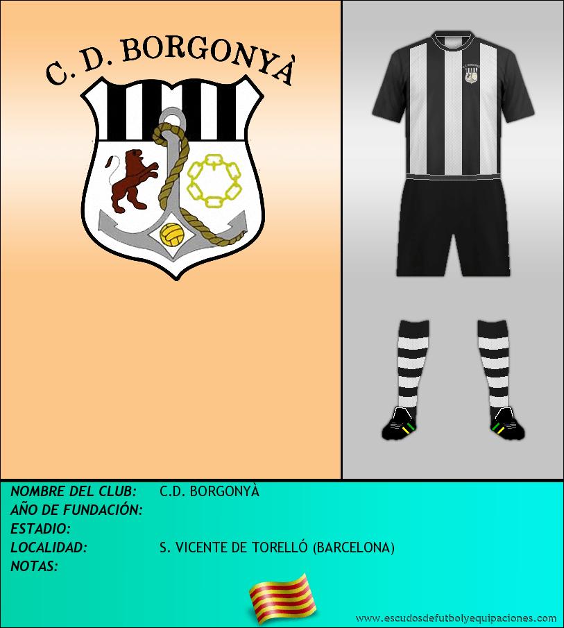 Escudo de C.D. BORGONYÀ