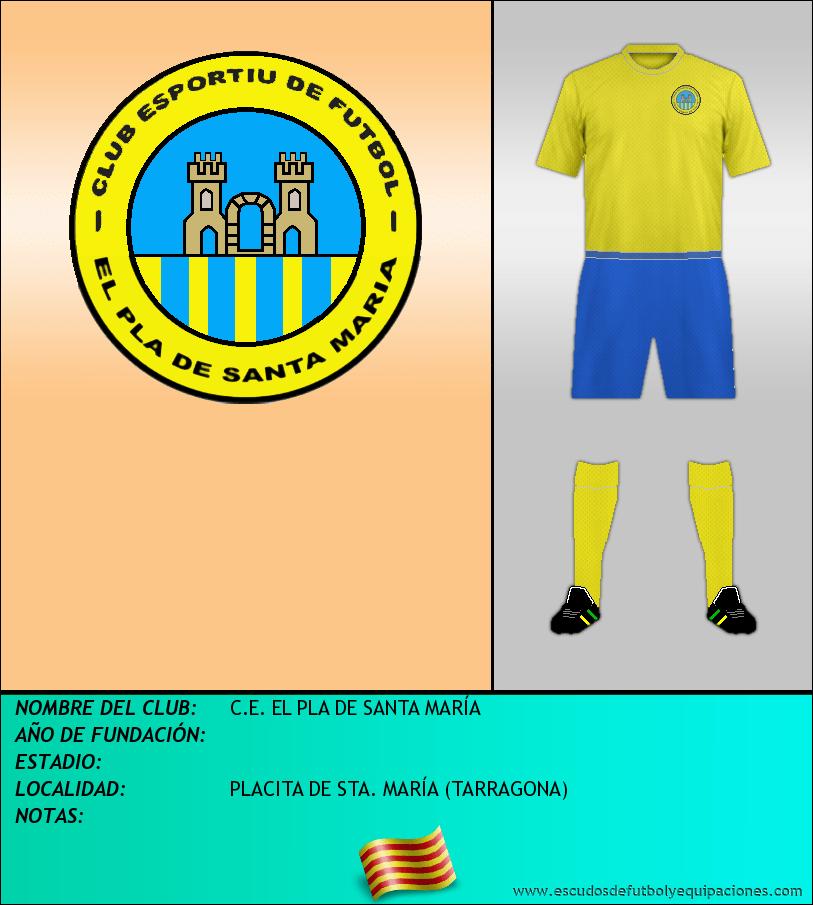 Escudo de C.E. EL PLA DE SANTA MARÍA