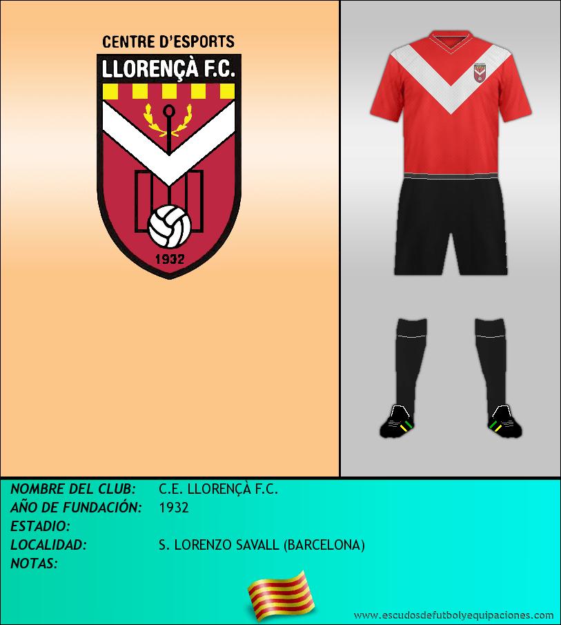 Escudo de C.E. LLORENÇÀ F.C.