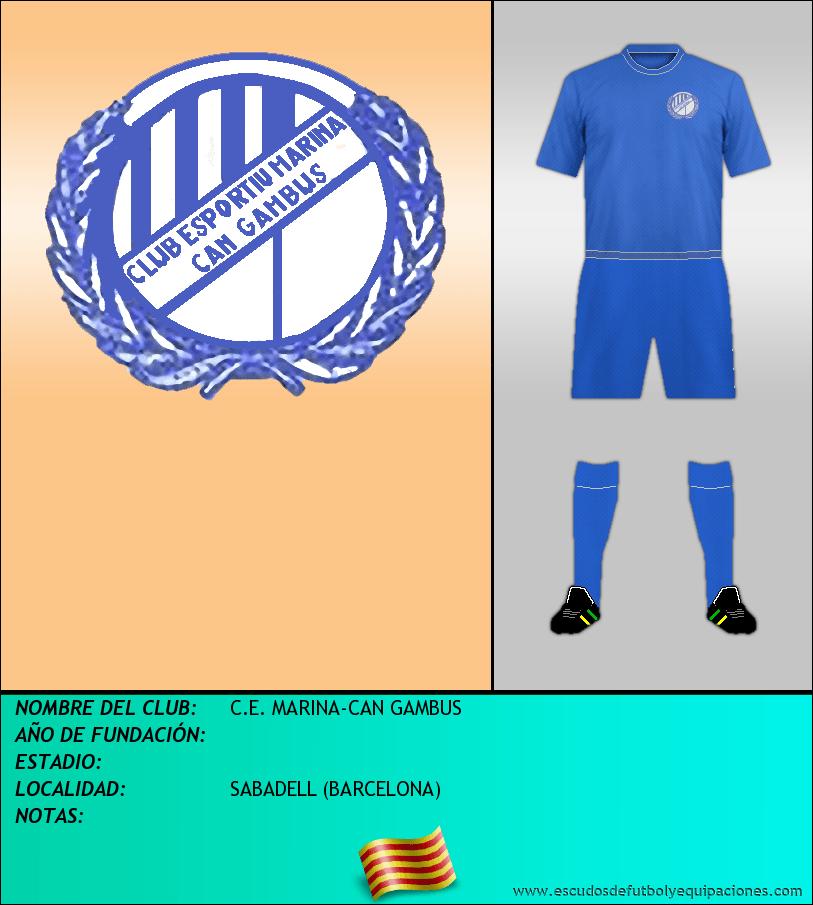 Escudo de C.E. MARINA-CAN GAMBUS